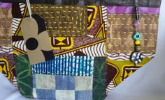 Small African fabric tote bag