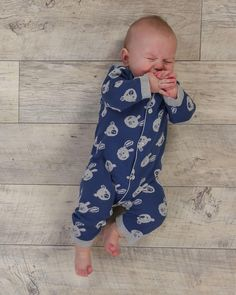 Baby Boy Cotton Knitted Baby All In One - Blue  www.theessentialone.com #babyfashion #baby #kidsfashion #parenting #newborn #babystuff #theessentialone