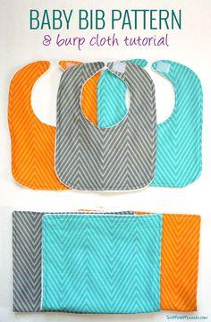 Free bib pattern and burp cloth tutorial!