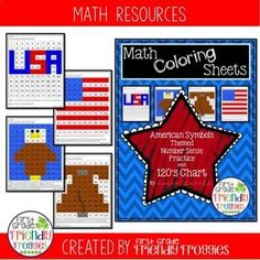Excellent Screen math Coloring Sheets Concepts It's not top secret that colour training books to get grown-ups usually are very popular these day Fun Math Activities, Math Resources, 120 Chart, Math Tubs, First Year Teachers, Teaching First Grade, Book Sites, American Symbols, Reading Intervention