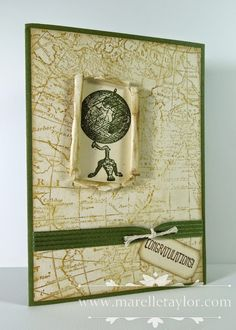 Traveler and World Map make-and-take Marelle Taylor Stampin' Up! Demonstrator Sydney Australia
