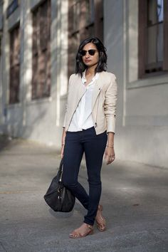 """Apparently my ideal color palette for fall is pretty boring when a beige jacket is the """"pop of color"""""""