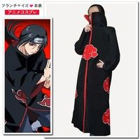 Wish | Festival Cosplay Long Gown Japanese Anime Naruto COS Clothing with Hat  Cloak Dress for AKATSUKI Eagle Organization Black