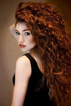 natural looking red hair color ideas for curly hair - Google Search