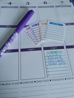 To Do Stickers for your Erin Condren Life Planner, Filofax, Paper Plum, calendar and/or scrapbook!