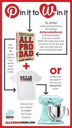 """We read iMom and All Pro Dad regularly, and usually glean something valuable from it each time. """"Pin it to win it"""" contest by All Pro, Marketing, Good To Know, The Book, The Help, Things I Want, Dads, Sayings, My Love"""