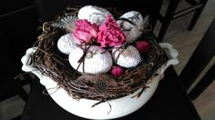 Easter terrine bowl decoration