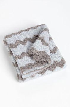Barefoot Dreams Receiving Blanket Blue Ocean Warm Grey One Size $34.90 thestylecure.com