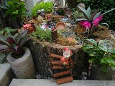 Cinnamon stick ladder for fairy garden