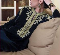 caftan velours style ancien
