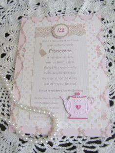 Fancy tea party invitation
