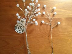 DIY Pearl Babys Breath :  wedding babys breath bouquet centerpieces diy filler flowers flowers handmade paper flowers pearls reception silver white