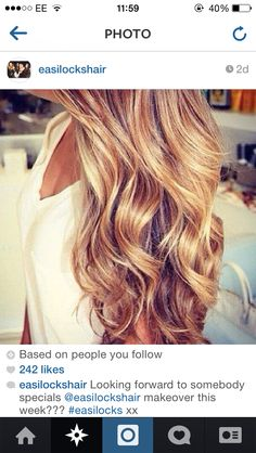 I love easilocks hair extensions they always look perfect!