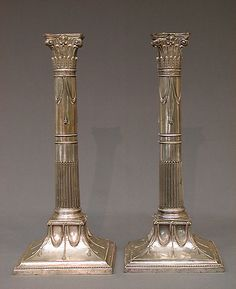 Pair of candlesticks  Date: ca. 1775–80