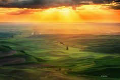 Palouse sunset by Chen Su on 500px