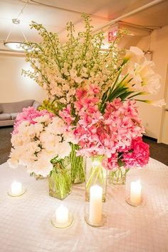 Beautiful centerpiece arrangement for welcome table