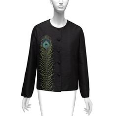 Embroidered Peacock Feather Jacket - The Met Store