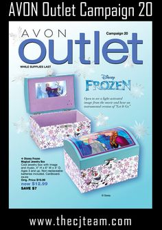 Avon Campaign 20, 2016 Outlet Sale - Shop early, these are only available WHILE SUPPLIES LAST!  Shop Avon Campaign 20, 2016 Outlet online september 1 through September 14, 2016. #Avon #CJTeam #Campaign20 #ShopNow #Sale #Outlet #Clearance #Frozen #WhileSuppliesLast Sell Avon Online @ www.cjteam.us. Shop Avon Online @ www.thecjteam.com