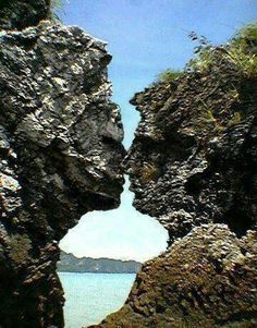 Twin flames  In the earth crust mountain side!  Truly Beautiful