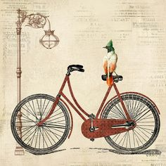 Vintage Bike-a Digital Art - Vintage Bike-a Fine Art Print