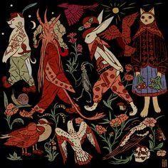 Ritual and Reverie: The Occultastic Art Of Tin Can Forest Art Inspo, Kunst Inspo, Inspiration Art, Art And Illustration, Illustrations, Pretty Art, Cute Art, Potnia Theron, Bel Art