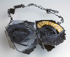 Teresa F. Faris Necklace: Collaboration with a Bird lll, 2013 Sterling silver, wood altered by a bird