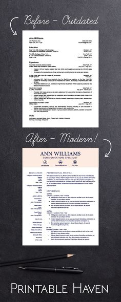 I seriously need to update my resume! I love these modern resume templates...