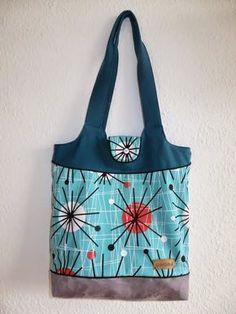 Einkaufstasche KURT mit Boden aus Kunstleder und hübschem Stoffmix!
