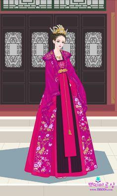 Eternal Love Drama, Jang Nara, Empress Ki, Korean Hanbok, Court Dresses, Aurora Sleeping Beauty, Chinese, Asian, Women's Fashion