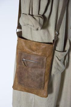 Skrawek Natury - caramel leather bag Leather Bag, Messenger Bag, Caramel, Satchel, Bags, Etsy, Fashion, Sticky Toffee, Handbags