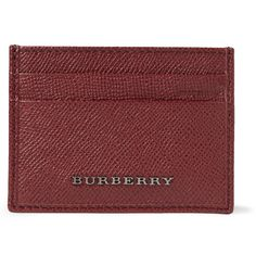 Burberry Shoes & AccessoriesCross-Grain Leather Card Holder MR PORTER