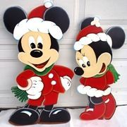Affordable, handcrafted wood Christmas Yard Decorations & Displays that brighten the holiday spirit of anyone Inflatable Christmas Decorations, Outside Christmas Decorations, Christmas Yard Art, Christmas Wood Crafts, Mickey Mouse Christmas, Disney Christmas, Christmas Signs, Christmas Projects, Holiday Crafts