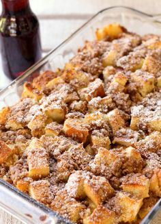 French Toast Bake - prepare the night before and pop into the oven 45 minutes ahead of time Christmas morning.