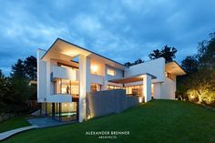 The SU house is a modern villa designed by the very creative architect, Alexander Brenner, showcasing architectural genius and style.