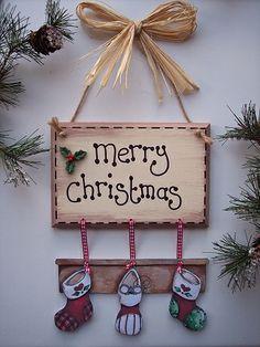 Schild für Weihnachten
