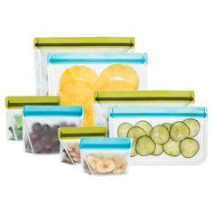 Blue Avocado Leak proof Reusable Storage Bag Kit 8 Pc,
