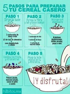 5 Pasos para preparar tu cereal casero y tener energía para estudiar #umayor #estudiantes #desayuno