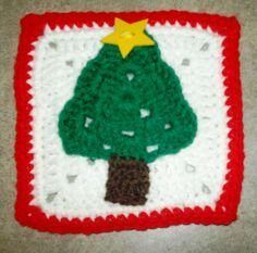 Christmas Tree Square ~ free pattern