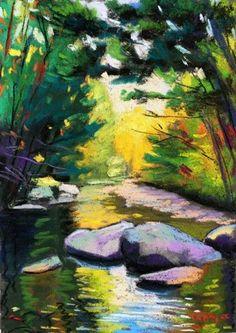 Adirondack Stream, painting by artist Takeyce Walter
