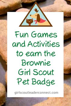 Brownie Pet Badge was a fun badge to complete with my Brownie girls they learned about pets their homes what they eat where their from and Brownie Pet Badge, Girl Scout Brownie Badges, Brownie Girl Scouts, Girl Scout Cookies, Girl Scout Activities, Activities For Girls, Girl Scout Leader, Girl Scout Troop, Brownies Activities