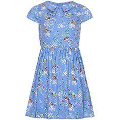 Buy Yumi Girl Bird Print Tea Dress, Sky Blue from our Girls' Dresses range at John Lewis & Partners. Fall Dresses, Girls Dresses, Summer Dresses, Annie Costume, Retro Girls, Bird Prints, Our Girl, Special Occasion Dresses