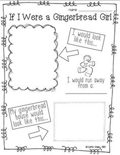 If I Were A Gingerbread... - Caitlin Clabby - TeachersPayTeachers.com.  Great activity after reading The Gingerbread Man!