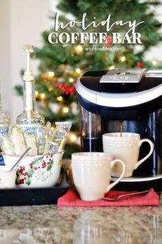 Set up fun and festive Holiday Coffee Bar this season...perfect for Christmas morning!