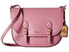 138629ca62 LAUREN by Ralph Lauren - Tate Messenger (Deco Rose) Messenger Bags Ralph  Lauren Purses