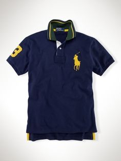 86f13cfb6cec4 Custom Tipped Collar Big Pony - Polo Ralph Lauren Custom-Fit -  RalphLauren.com