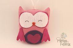 Felt Owl | Corujinha | by Mimos e Feltros