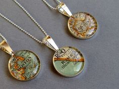 Map Necklace.  I had one made, for my friend who lives in San Fran, of our childhood home town. She loved it.