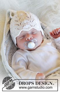 New chick / DROPS baby - free knitting patterns by DROPS design Knitted hat for babies with lace pattern in DROPS Baby Merino. Baby Knitting Patterns, Baby Hats Knitting, Lace Patterns, Knitting For Kids, Free Knitting, Knitted Hats, Crochet Patterns, Crochet Motif, Drops Design