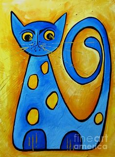 Sketch Book for Kids: BLANK Paper Drawing Pad Painting Sketching Doodling 120 Pages, x Glossy Premium Abstract Cat Cover For Pens Pencils . Art Drawings For Kids, Drawing For Kids, Art For Kids, Cat Shots, Cat Doodle, Cat Quilt, Blue Cats, Rock Crafts, Cat Drawing
