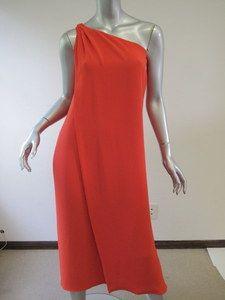 Diane Von Furstenberg Cherry One Shoulder Liluye Long Dress 0 | eBay